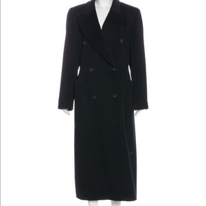 Escada Wool Long Black Coat Size M